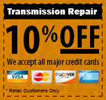 10% Off Transmission Repair